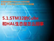 STM32的Cube和HAL生态是怎么回事-第5季第1部分视频课程