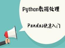 Python3数据处理Pandas快速入门视频课程