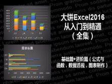 大饼Excel2016从入门到精通(全集)视频课程