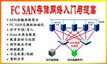 FC SAN存儲網絡入門與提高視頻教程