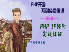 PHP IF语句实战详解视频课程【韦玮老师出品】
