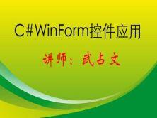 C#Winform常用控件应用视频课程
