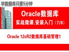 Oracle数据库基础管理1( 12cR2 )_Oracle安装入门_实战微课_5分钟带你学Orac