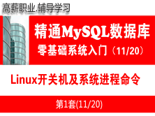 Linux开关机及系统进程命令_MySQL数据库入门必备视频课程11