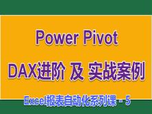Power Pivot DAX进阶及实战案例