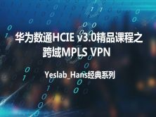 Yeslab_Hans华为数通HCNA/HCNP/HCIE经典系列之HCIE 跨域MPLS虚拟专用网
