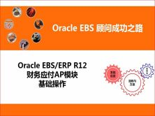 Oracle EBS/ERP R12 财务应付AP模块系统操作视频课程