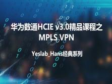 Yeslab_Hans华为数通HCNA/HCNP/HCIE经典系列之HCIE MPLS VPN