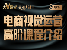 【吴刚大讲堂】电商视觉运营高级课程介绍