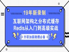 20年Redis分布式缓存课程  Springboot/Mybatis/高可用/高并发/互联网架构