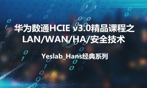 Yeslab_Hans华为数通HCNA/HCNP/HCIE经典系列之HCIE LAN/WAN/安全