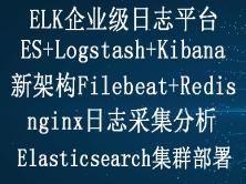 ELK Stack企业级日志平台日志采集实战视频教程(6.6版本)