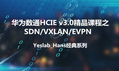 Yeslab_Hans华为数通HCNA/HCNP/HCIE经典系列之SDN VXLAN/EVPN