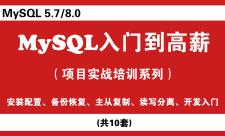 MySQL数据库(快速入门)视频培训教程系列专题
