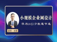 20人-50人小规模企业网设计视频课程(肖哥 HCIP)
