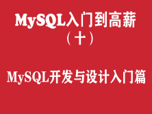 MySQL快速入門培訓教程(十)︰MySQL數據庫開發與設計入門篇