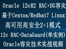 Oracle 12c RAC+dataguard容灾(2+1)实施部署实战视频教程