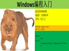 Windows編程入門視頻課程