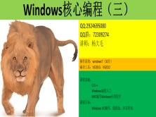 Windows核心編程視頻教程(第三部分)