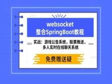 Websocket视频教程 项目实战 SpringBoot+Maven整合正版视频课程