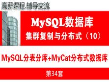 MyCat+MySQL分表分庫與MyCat分布式數據庫項目_MySQL高可用復制與分布式集群架構10