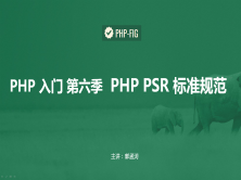PHP7入门手册视频版第六季 PSR 标准规范