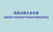 zabbix+docker+kubernetes(k8s)