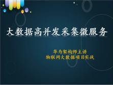 物联网大数据应用开发的项目一:高并发采集服务(共8讲)