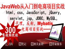 Java Web从入门到项目实战挑战高薪html CSS JS servlet JSP jdbc