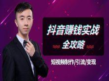 抖音快手短视频自媒体制作引流运营兼职创业赚钱盈利实战教程