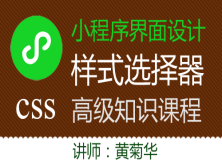 微信小程序界面设计-小程序中的WXSS(css)选择器
