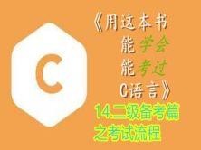 《用这本书能学会能考过C语言》--14.二级备考篇之考试流程