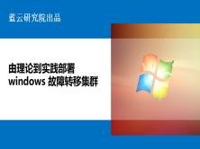 由理论到实践部署Windows故障转移集群