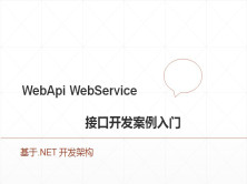 webapi webservice接口开发案例入门  .net接口开发