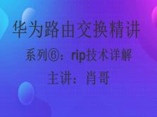 华为路由交换精讲系列⑥:Rip技术详解 [肖哥]视频课程