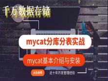 千万数据存储mycat分库分表实战