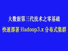 大数据第三代技术之零基础快速部署Hadoop3.x分布式集群