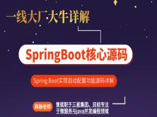 一线大厂大牛详解SpringBoot核心源码【鲁班学院】