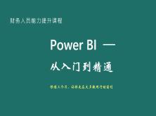 Power BI 制作企业级财务分析报告   完整篇