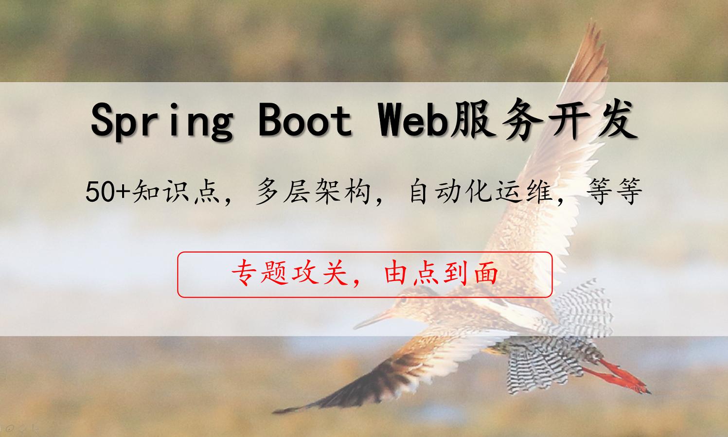 Spring Boot开发Web服务实战