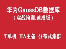 华为高斯GaussDB T数据库实战培训(速成版)