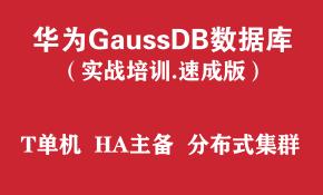 华为高斯GaussDB数据库培训实战教程