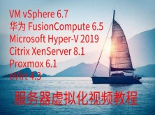 vSphere、华为、微软、XenServer、Proxmox、oVirt服务器虚拟化教程