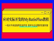应对实际开发的MyBatisPlus教程