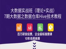 7期大数据之数据仓库Hive技术教程(入门、高级、优化)