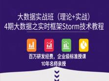 4期大数据之实时框架Storm技术教程