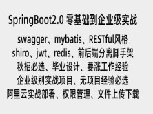 Spring boot Layui shiro redis jwt 权限管理系统零基础到企业级实战
