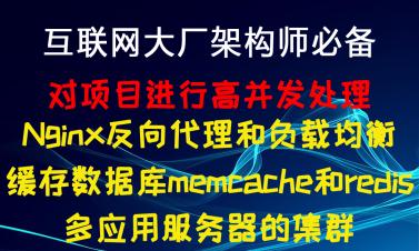 互联网大厂架构师必备/Nginx反向代理和负载均衡/memcache和redis/服务器的集群