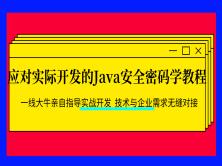 2020年应对实际开发的Java安全密码学教程