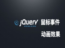 jquery鼠标事件+动画效果